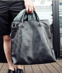 X-온라인 핫 세일 남자 핸드백 남성 패션 대형 토트 남자 간단한 블랙 가방