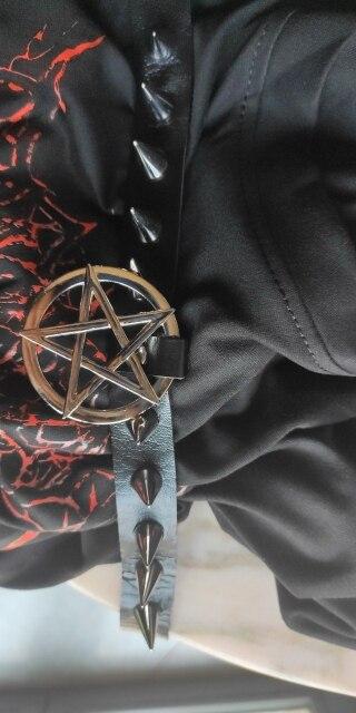 Egirl Eboy Gothic Punk Spike Choker with Pentagram pendant photo review
