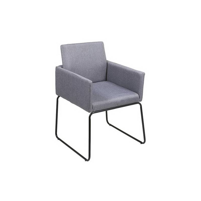 Armchair Stainless Steel Polyester (55x55x83 Cm)