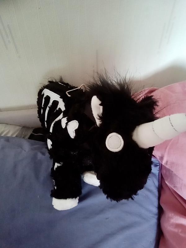Punk unicorn Skeleton Crossbody Bag photo review