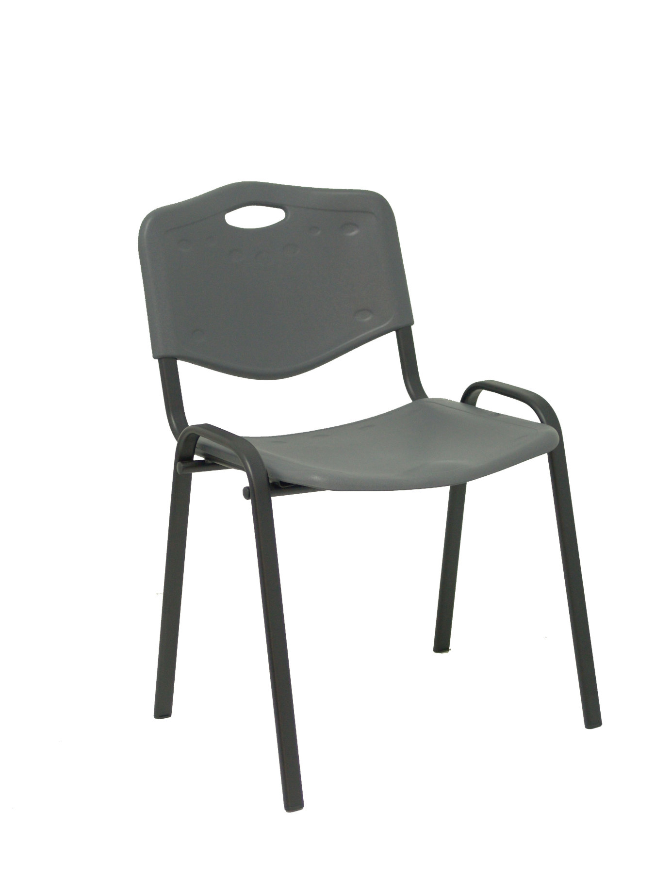 Confident Chair Ergonomic, Stackable, Multi-purpose And Structure In Black-Seat And Backrest PVC Color Gray (CO