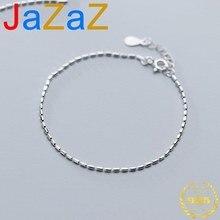 A00534 Jazaz 925 Sterling Silber Interi Diskutieren Glänzend Lange Perle Charme Armband & Armreif für Frauen Mädchen Partei Edlen Schmuck