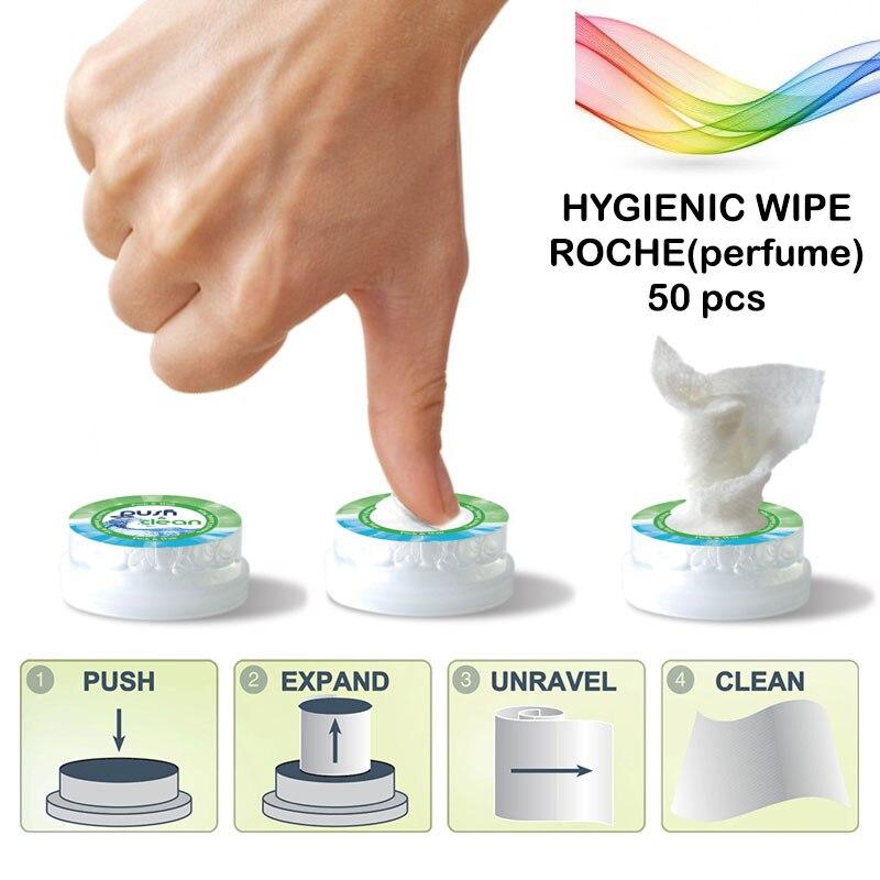 HYGIENIC WIPE PUSH CLEAN ROCHE 50 Pc