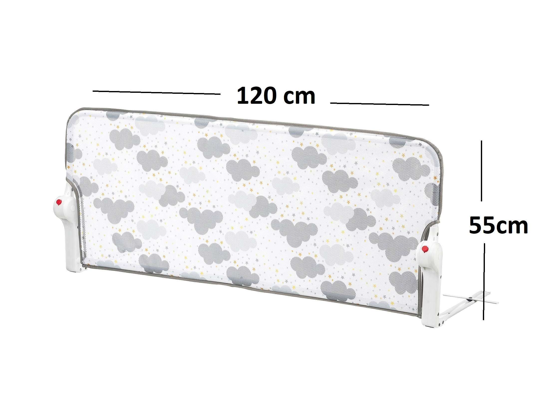 Tinycare Bed Rail For Baby, Portable Folding Bed Rail Single Bed Guard Safety Protection For Toddler Baby And Children 120x55cm
