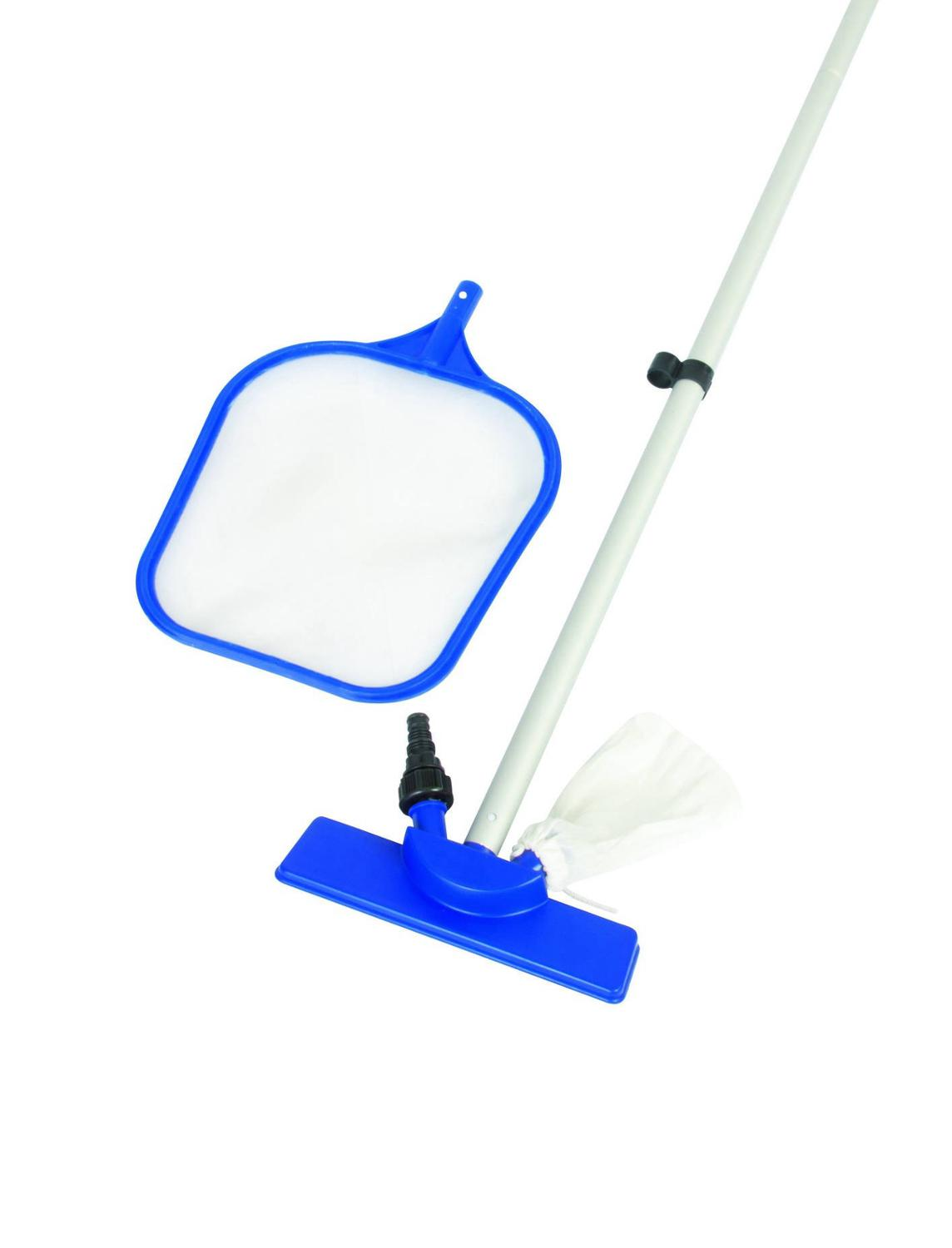 Set For Water In The Pool Care: Dip Net, Brush For Cleaning Bottom And Walls, подключаемая To Garden Hose, Handle 203 Cm