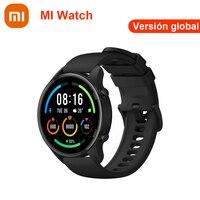 [€100-€10 código:08ESOW10]Xiaomi Mi Watch reloj inteligente, dispositivo resistente al agua hasta 5atm, con Pantalla AMOLED de 1,39 pulgadas, Monitor de ritmo cardíaco de deporte y Fitness, Versión global