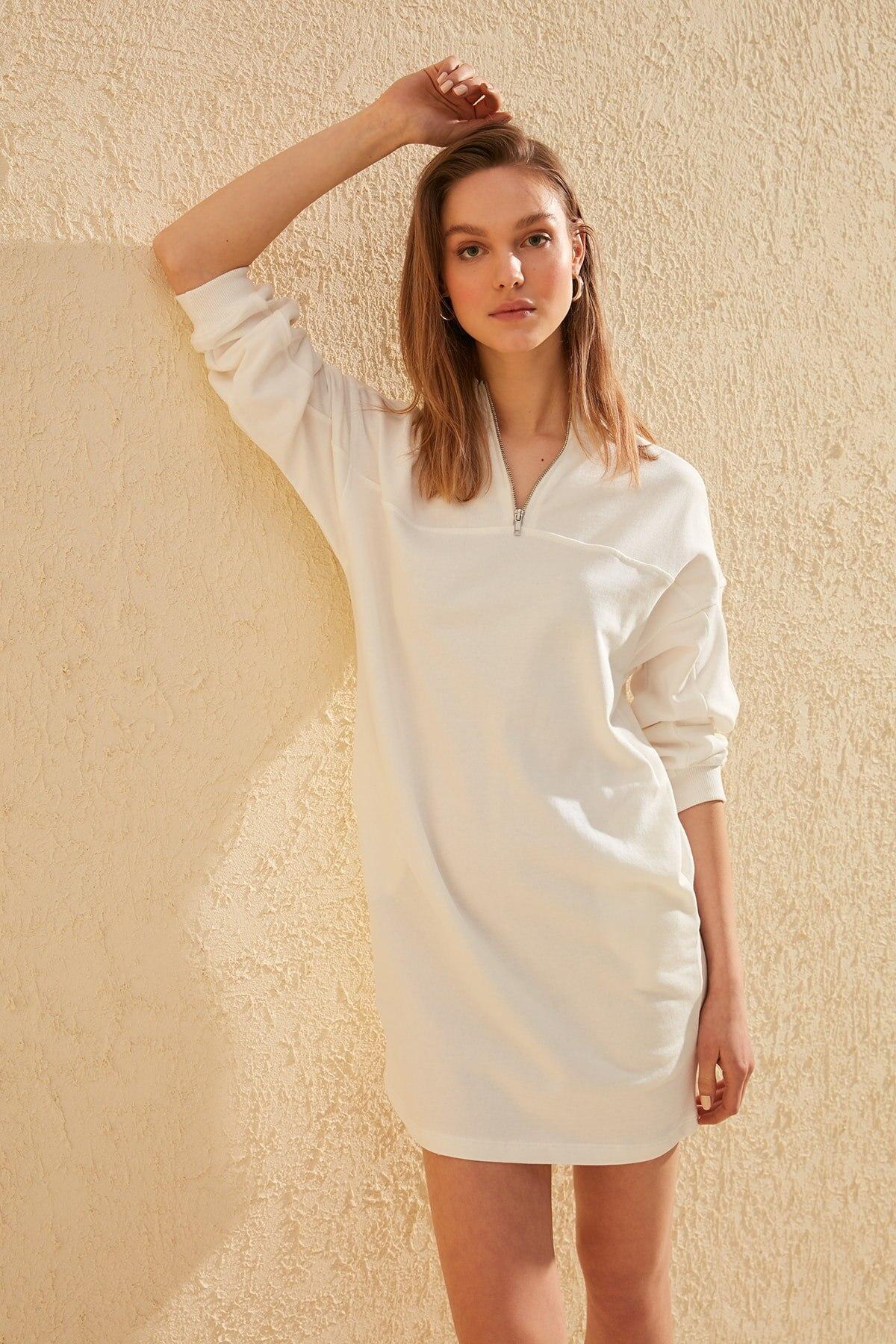 Trendyol Zip Detail Knit Dress TWOSS20EL0784