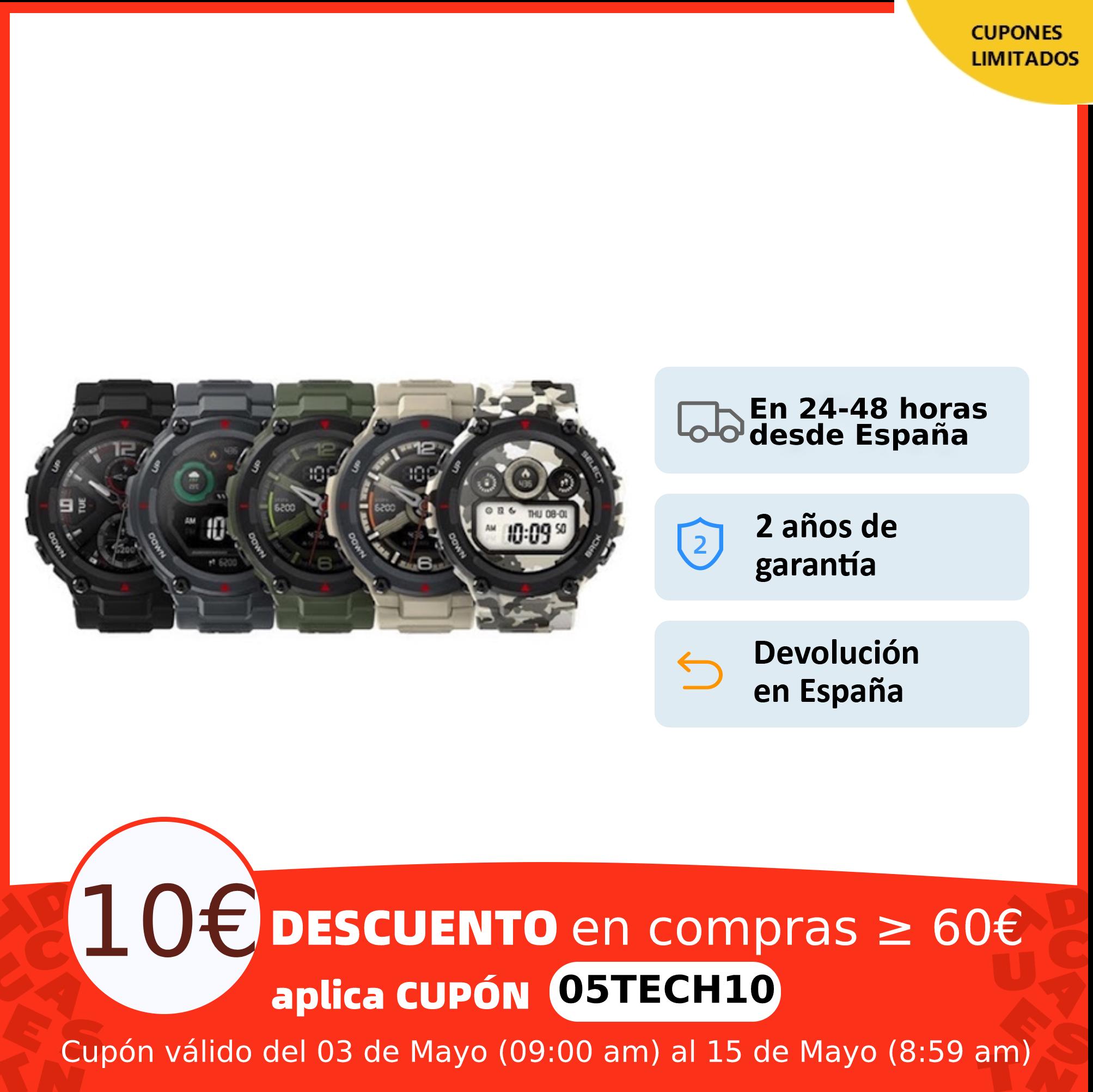 Nuevo Amazfit T-REX por 65,00 euros (-45% desc.)