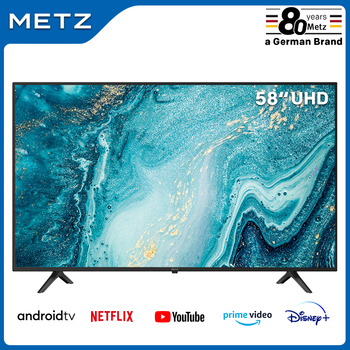 Fernsehen 58 ZOLL SMART TV METZ 58MUB6010 ANDROID TV 9,0 UHD Google Assistent Großen Bildschirm Voice Fernbedienung 2-jahr Garantie