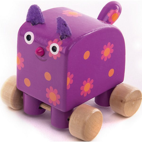 Figurine Wooden Wood Kitty Meow