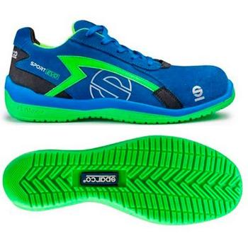 Pair slippers Sparco Sport Evo TG. 44 Blue/Green