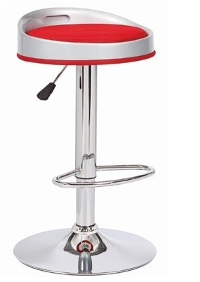 Stool CUMBIA, Chrome, Abs White, Similpiel Network