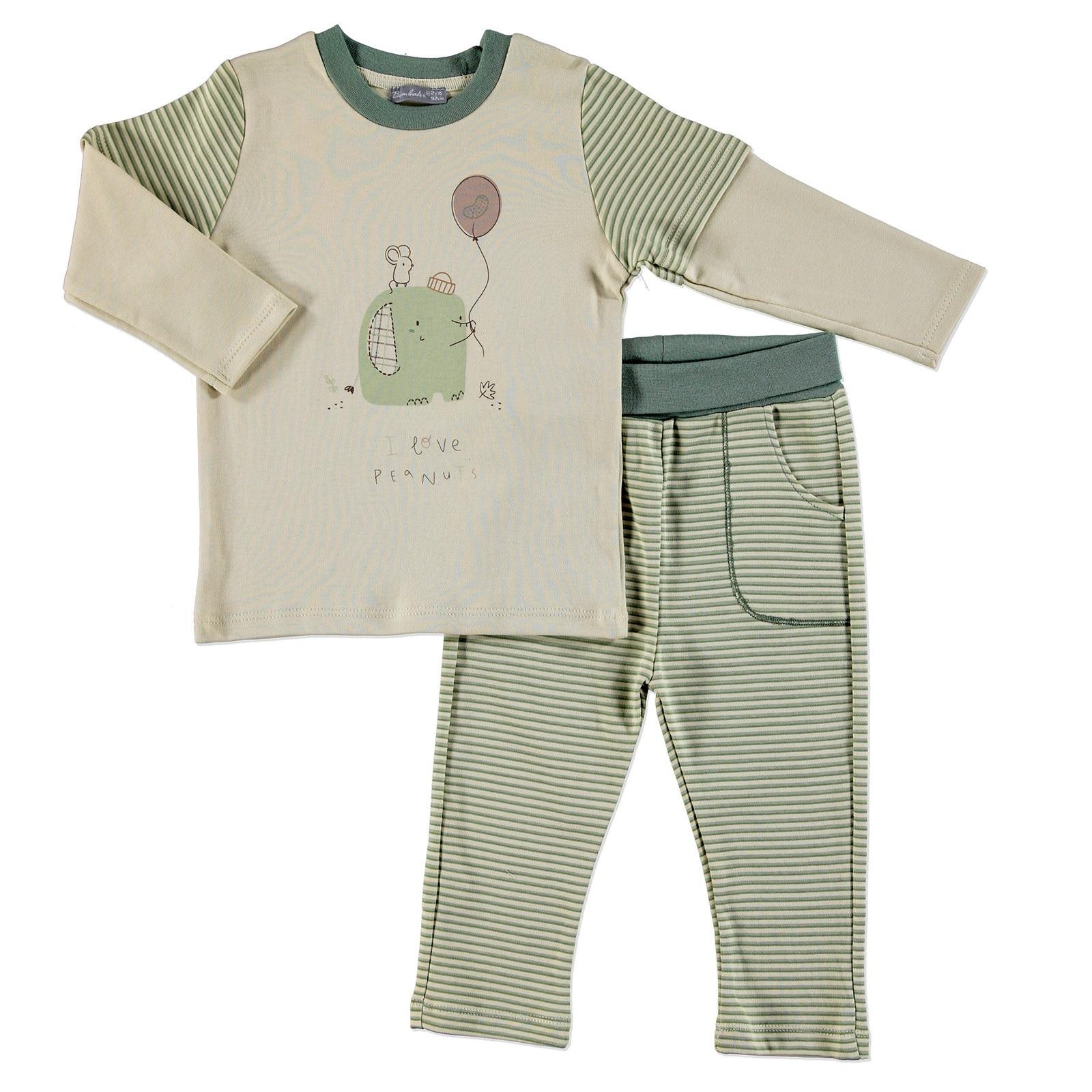 Ebebek Bambaki Cold Days Baby Boy Sweatshirt Tousers Set