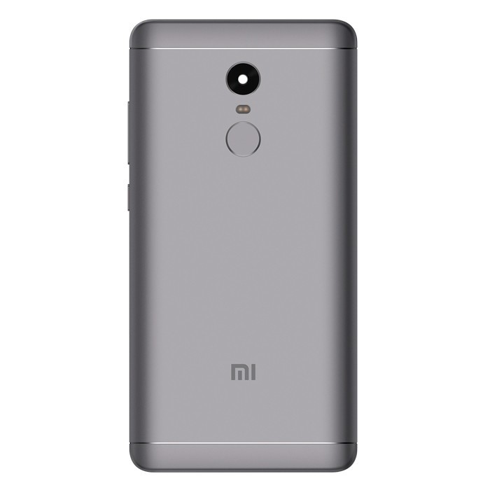 Original Rear Lid Grey Inclusive Side Buttons And Fingerprint Reader For Xiaomi Note Redmi 4