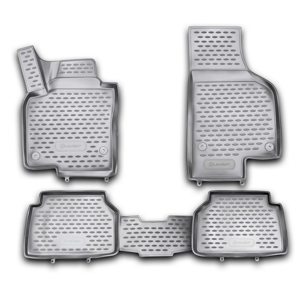 3D Mats In The Salon For VW Tiguan 10/2007-2016, 4 PCs NLC.3D. 51.21.210kh