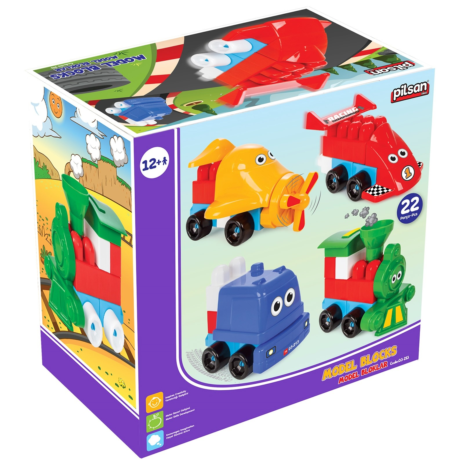 Ebebek Pilsan Model Blocks 22 Pcs