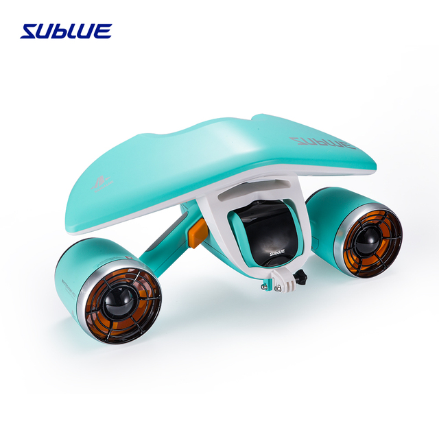 Sublue Whiteshark Mix waterproof battery mergulho Underwater Scooter for scuba diving child toys in piscina and pool Aqua Blue