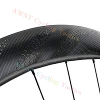 4 5 5 4 New Disk Disc Wheels Dimple 58mm 25mm Wideth Rims Disc Brake Road Bike Clincher Tubular 700C Bicycle Carbon Wheelset