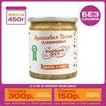 450 гр. Натуральная арахисовая паста с финиками и кофе TM #Намажь_орех. Без сахара, без пальмового масла.