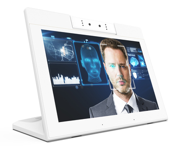 10 inch Android smart desktop display with Binocular camera ideal for facial recognition, indoor room meeting.