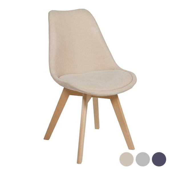 Dining Chair (49 X 60 X 81 Cm) Velvet Beech Wood