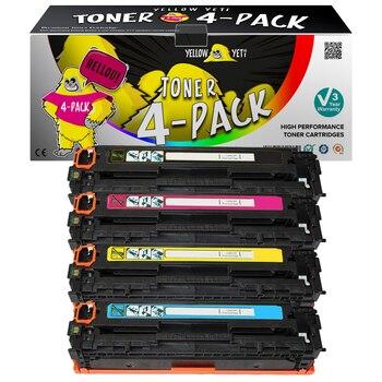 1pcs Black Compatible Toner Cartridge CC530A CC531A CC532A CC533A for HP Color LaserJet CM2320nf CP2025b CM2320n CM2320nf Print