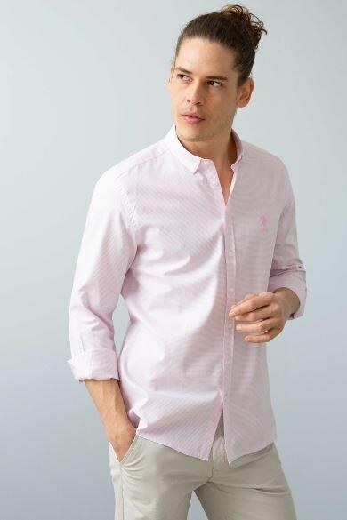 U.S. POLO ASSN. Paneled Slim Shirt