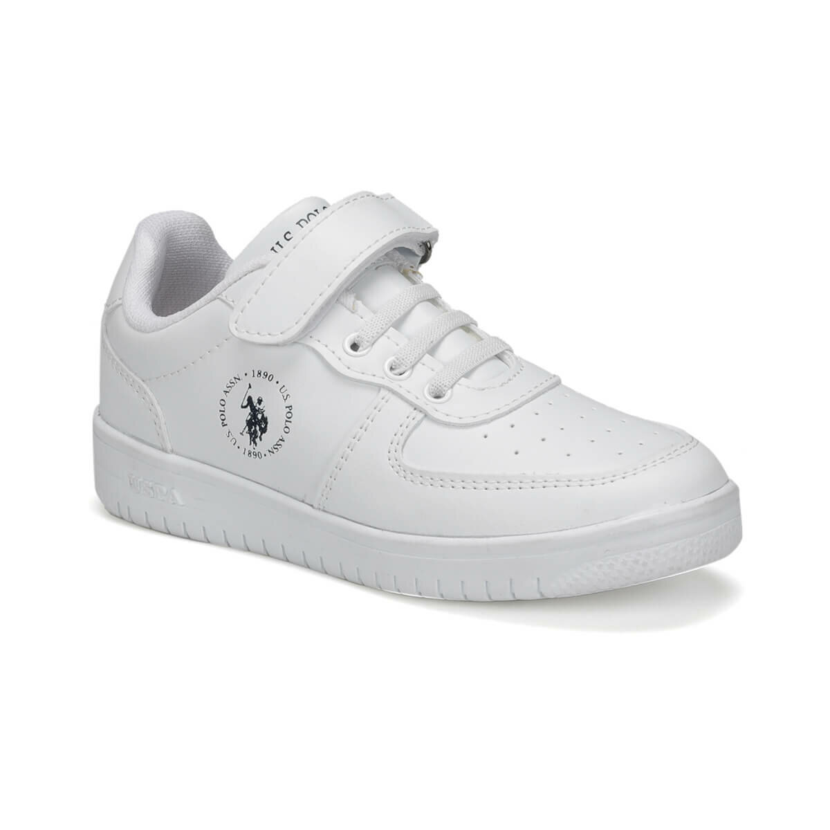 FLO DIMLER 9PR White Male Child Sneaker Shoes U.S. POLO ASSN.