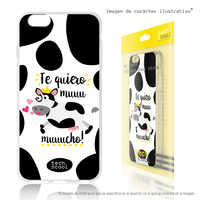 FunnyTech®Etui support pour Xiaomi Redmi Silicone 8 L Frase Te je veux Moo Vers.1