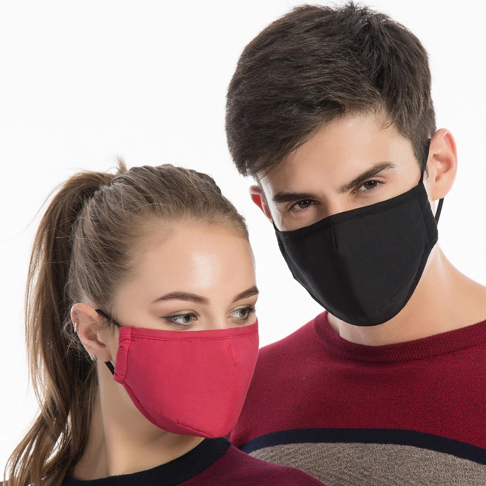4 Masks Unisex + 8 Filters PM 2.5 Protection Cotton Dust Protective Face Nose Mouth Multipurpose Washable CGStore