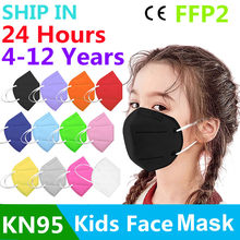 10/50pc 12 cores mascarilla fpp2 homólogo crianças mascarilla kn95 ffp2 mascarillas ffp2 facemask ffp2mask kn95 mascara enfant