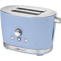 Clatronic TA 3690 Broodrooster pan 2 slots 3 functionele toast warm dooi roosteren niveau 850W Retro Vintage Blauw-in Broodroosters van Huishoudelijk Apparatuur op