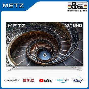 Fernsehen 43 ZOLL SMART TV METZ 43MUB7000 UHD ANDROID TV 9,0 Rahmenlose Google Assistent STIMME FERNBEDIENUNG 2-Jahr garantie