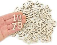 110pcs. Wooden Numbers (2,5cm) Wood Numbers Embellishments Shapes Art Craft Decoration 0691