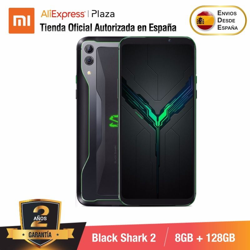 [Global Version for Spain] Xiaomi Black Shark 2 (Memoria interna de 128GB, RAM de 8GB, Camara dual de 48MP+12MP, Gaming Phone)