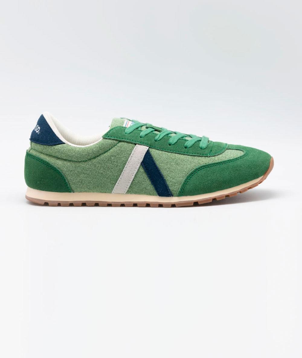Zapatilla El Ganso® Running Washed Verde De Marca Originales Vintage de Hombre Caballero retro