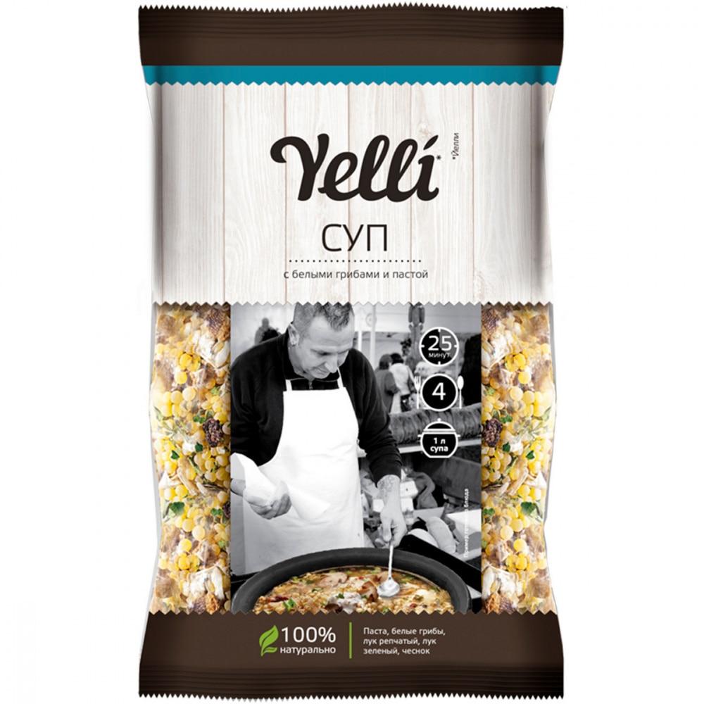 """Суп Yelli """"С белыми грибами и пастой"""", 120 гр Готов для завтрака    АлиЭкспресс"""