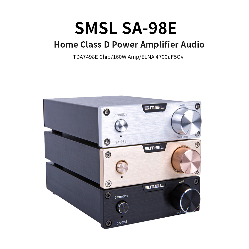 SMSL SA-98E Home Class D Power <font><b>Amplifier</b></font> Audio TDA7498E <font><b>Hifi</b></font> 160W Amp Power Amplificador image