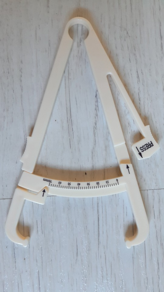 1PC Crossfit Body Fat Loss Tester Calculator Fitness Caliper Clip Measurement photo review