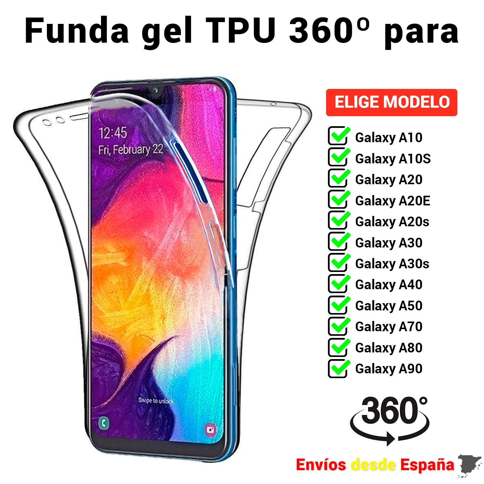 Чехол из ТПУ 360 для Samsung A10 A10S A20 A20E A20s A30 A30s A40 A50 A70 A80 A90. Полноразмерный двухсторонний прозрачный мобильный телефон