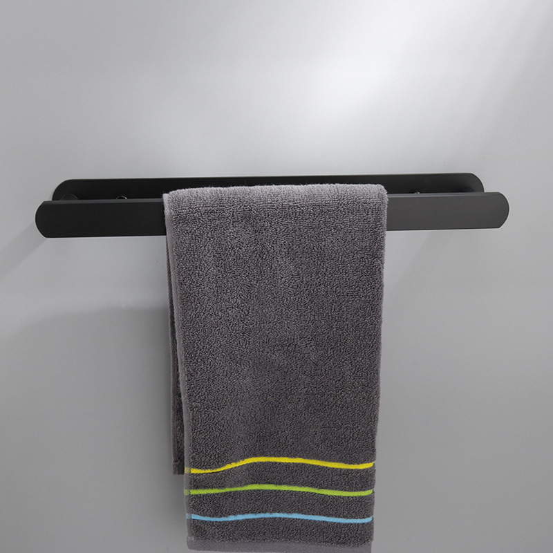 1Pc Practical Stainless Steel Hanging Towel Rack Wall-mounted Single Bar Washcloth Holder Bathroom Kitchen Supplies