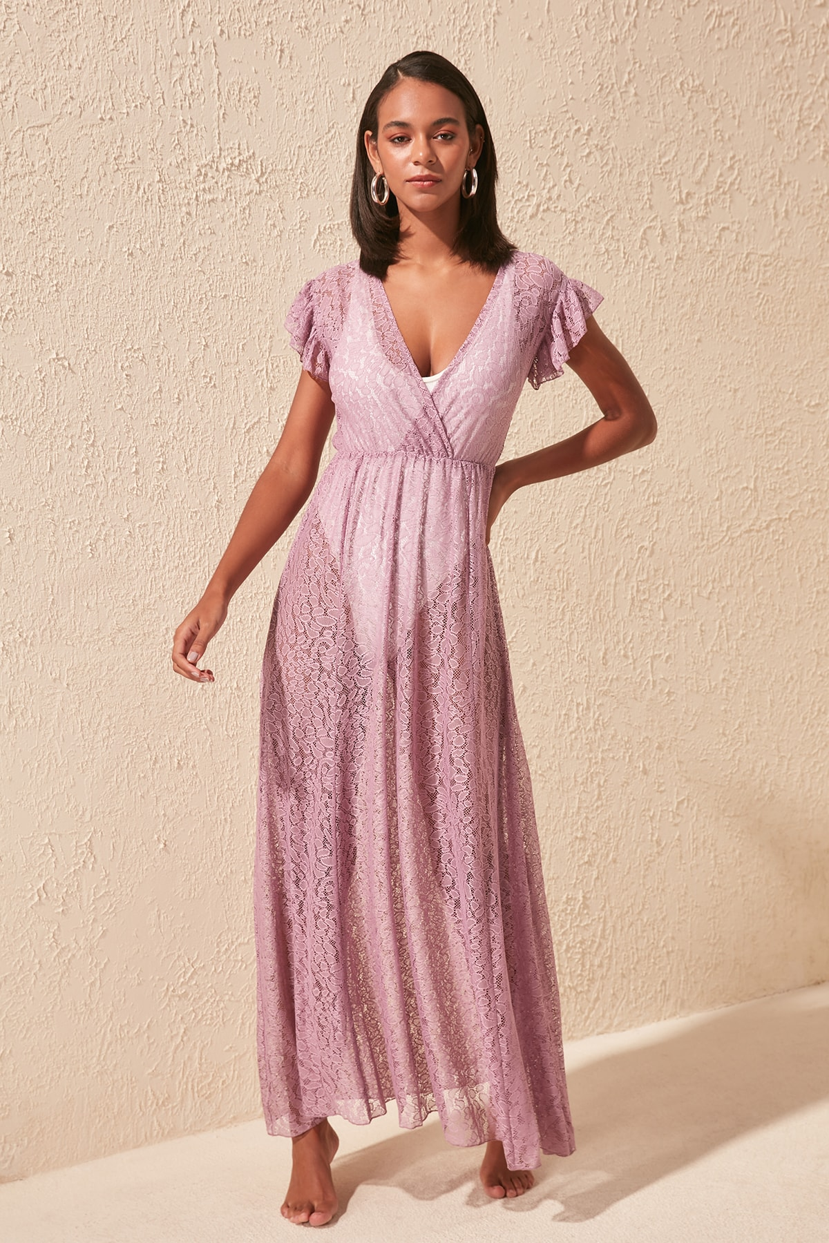 Trendyol Lilac Ruched Dress TBESS20EL1333