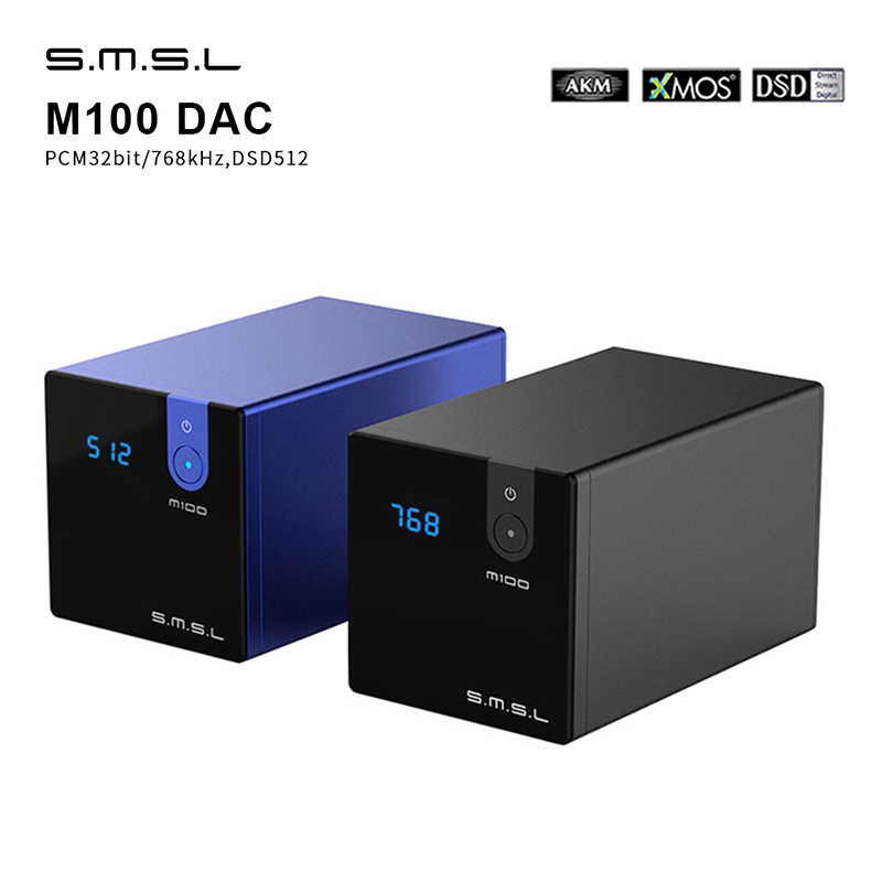 SMSL M100 Audio DAC USB AK4452 HI FI Dac Decoder DSD512 Spdif USB DAC Amp XMOS XU208 Amplifier Digital Optik Koaksial masukan