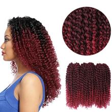 12 cali szydełkowe włosy plecione Ombre pasja skręca włosy żaroodporne syntetyczne Kinkly kręcone warkocze przedłużanie włosów tanie tanio sheila beauty Niska Temperatura Włókna Takie jak Twist 20 nici opakowanie