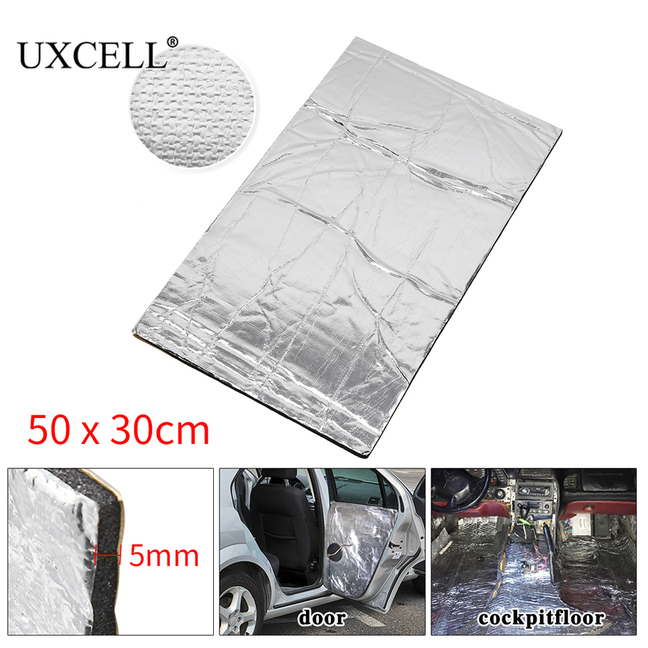 Uxcell 5mm/8mm/10mm 50cm*30cm Thick 1.6sqft Car Automotive Heat Insulation Sound Deadener Road Noise Dampener Thermal Mat