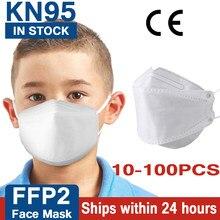 10-100 Uds FFP2 chico máscaras KN95 niños máscaras máscara reutilizable máscara protectora, maske 95% de Mascarillas tapabocas
