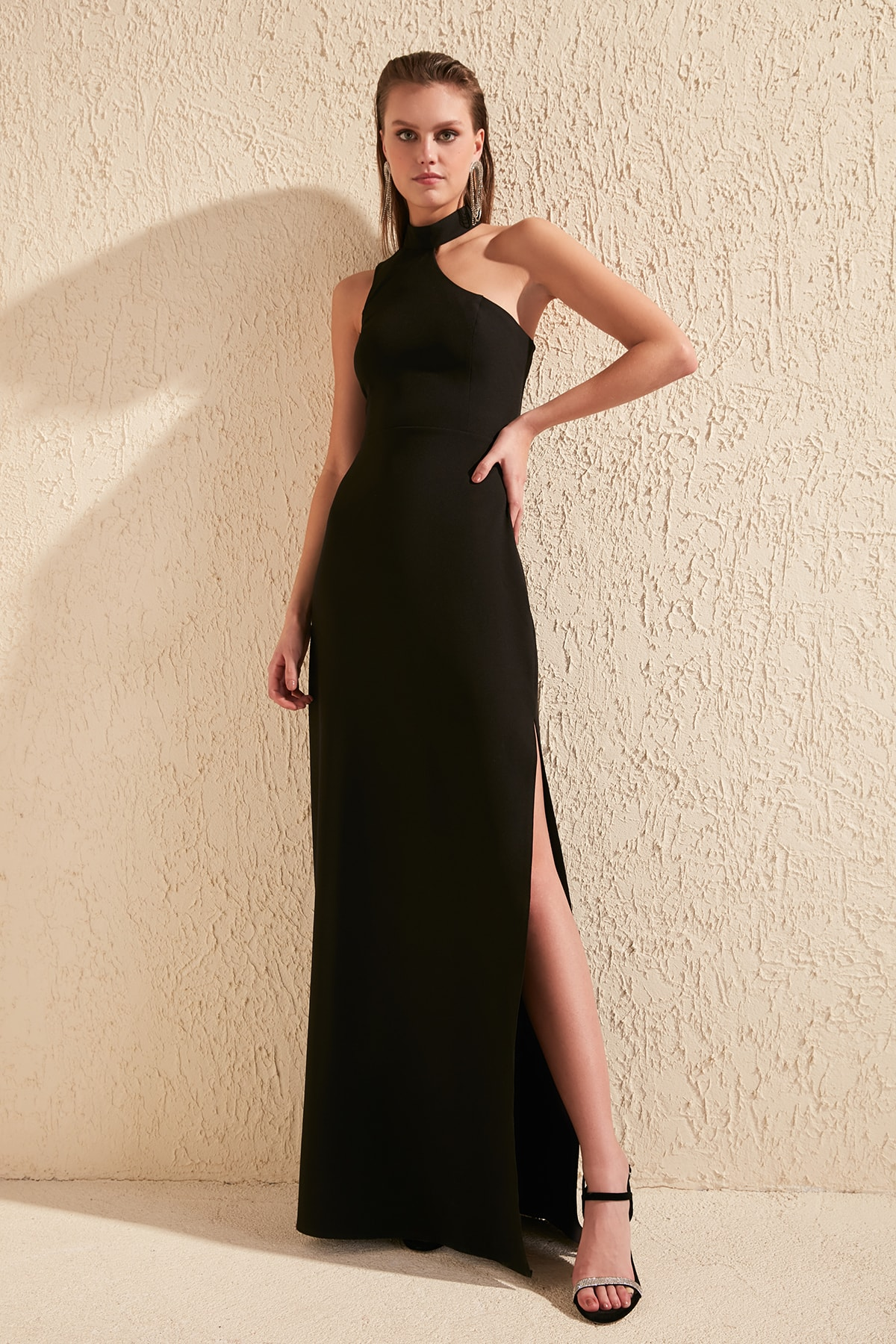 Trendyol Collar Detail Evening Dress & Prom Gown TPRSS20AE0048
