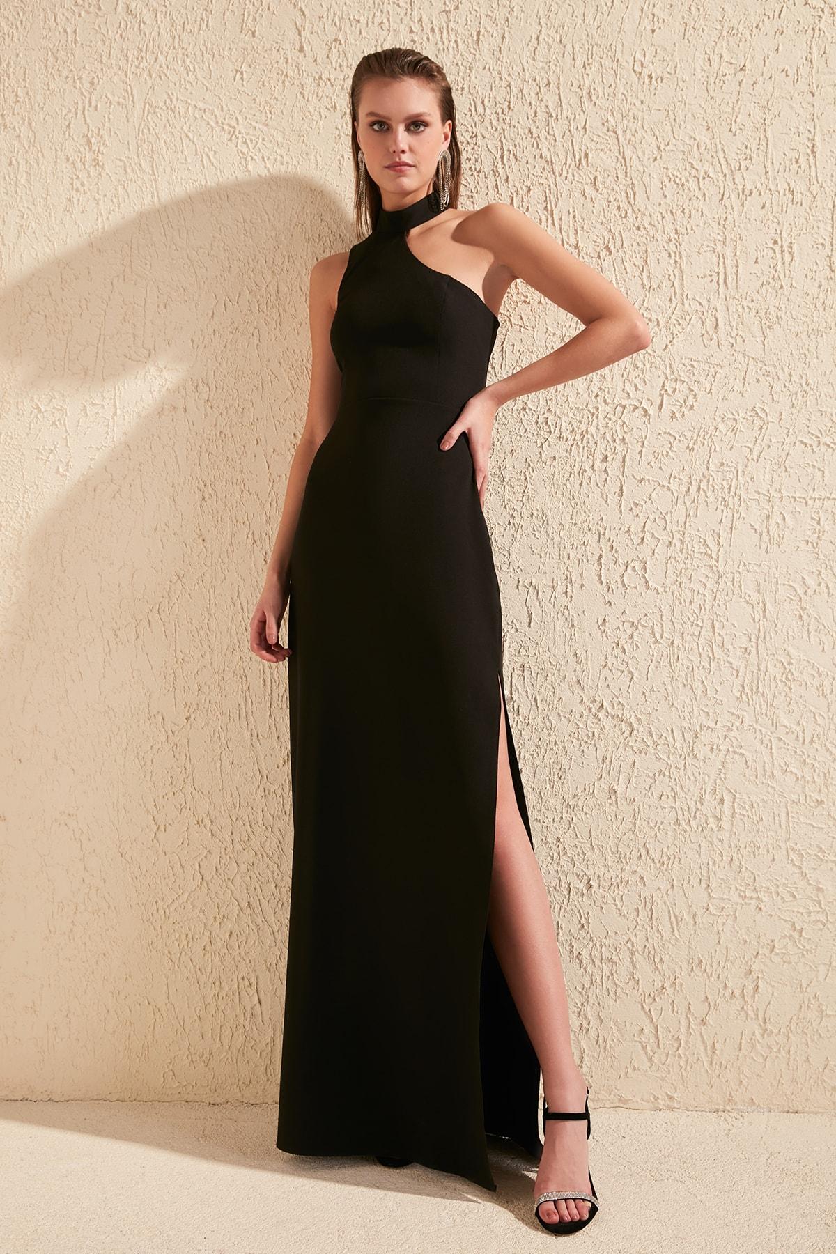 Trendyol Collar Detail Evening Dress & Prom Gown TPRSS20AE0048