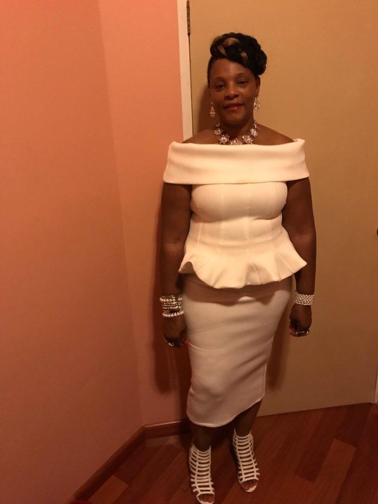 Adyce Bow&Amp;Ruffles Ankle Length Celebrity Evening Bodycon Party Dress White Slash Neck Short Sleeve Hot Club Dress Women photo review