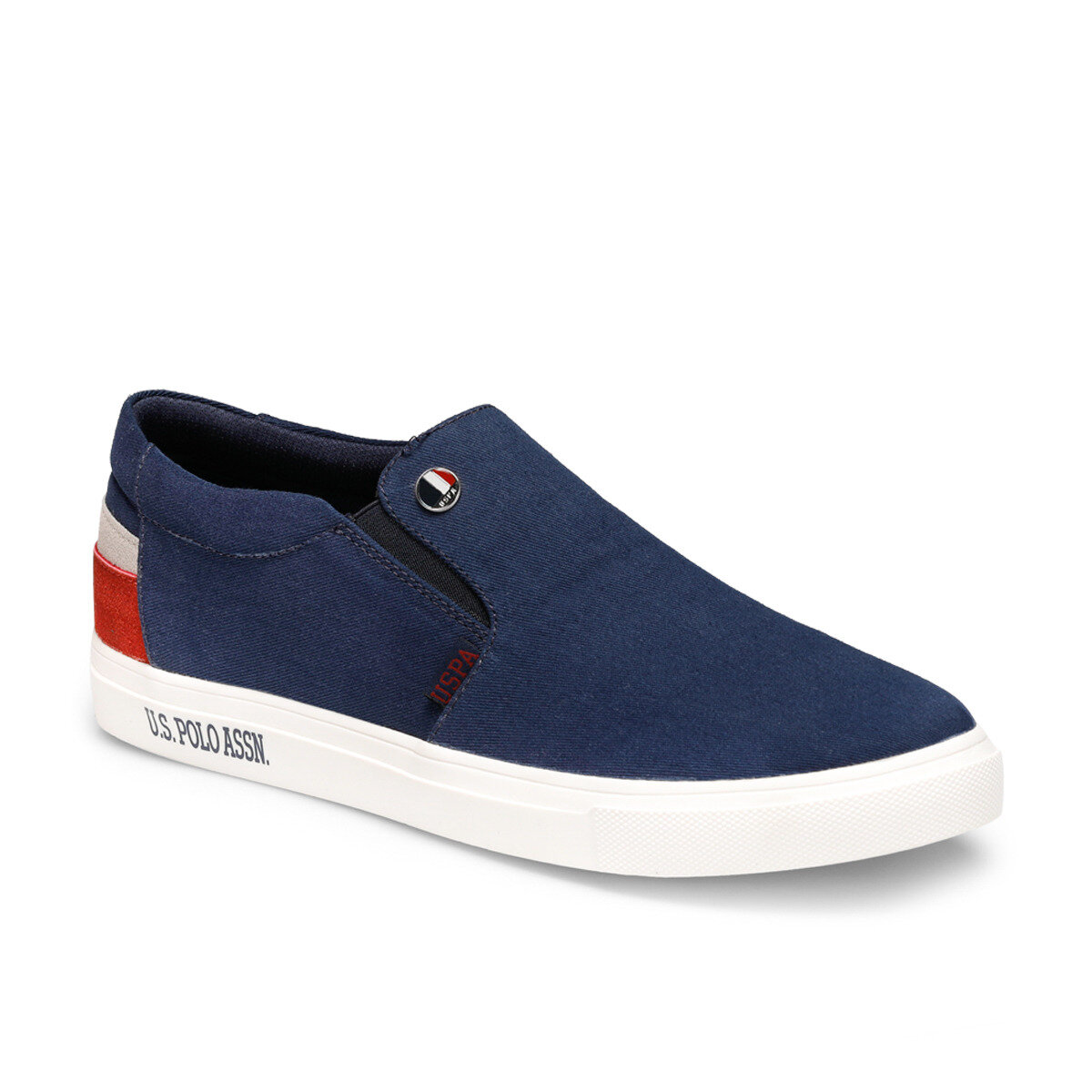 FLO Navy White Men Casual Shoes Fashion Men Shoes Loafers Moccasins Slip On Men's Flats Male Driving Shoes U.S. POLO ASSN. LOVONO